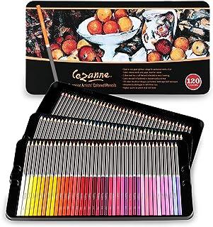 Cezanne Juego de lápices de colores profesionales de 120 colores, calidad de artista, minas de núcleo suave para dibujar, ...