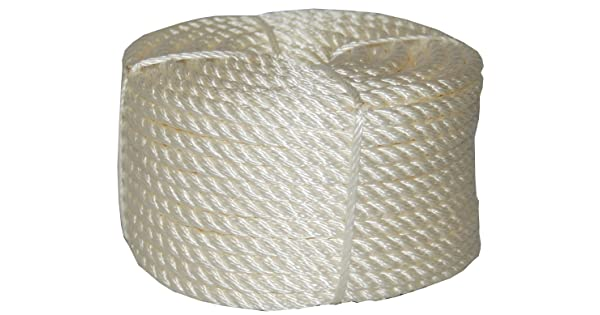Evans Cordage 32-003 1//2-Inch by 50-Feet Coilette Nylon Rope T.W