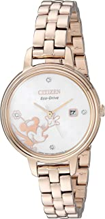 Citizen Women's Mickey Mouse & Friends Quartz Stainless Steel Strap, Rose Gold, 10 Casual Watch (Model: EW2448-51W)