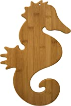 Totally Bamboo Seahorse Shaped Bamboo Cutting and Serving Board, 15