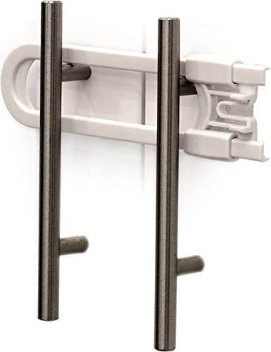 Child Safety Sliding Cabinet Locks (4 Pack) - Baby Proof Knobs, Handles, Doors - U Shape Sliding Safety Latch Lock - ...