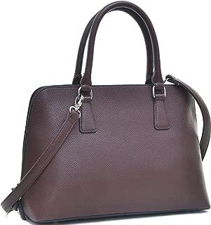 Women's Top Zip Double Handle Structured Work Tote Satchel Handbags Shoulder Bag Purse
