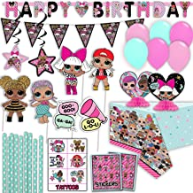 "L.O.L Surprise! Party Decorations Kit - ""Happy Birthday"" Join Banner, Photo Booth Props, Flag Banner, Table Cover, Table C..."
