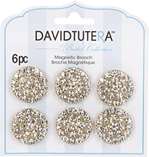 Darice David Tutera Illusion Gold Crystal Rhinestone Magnet Brooches