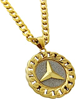 mercedes gold necklace