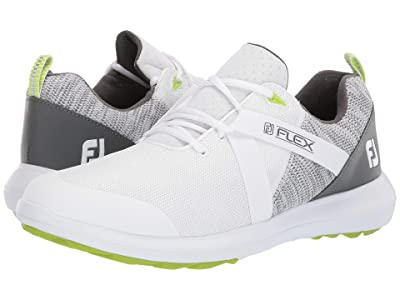 FootJoy FJ Flex Spikeless U-Throat Mesh Athletic All Over (White) Men