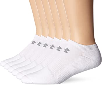 6-Packs Under Armour Mens Charged Cotton 2.0 No Show Socks