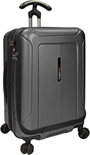 Traveler's Choice Barcelona 100% Polycarbonate Durable Hardshell Expandable Front Opening Dual Cyclone Wheels 22-inch Carr...