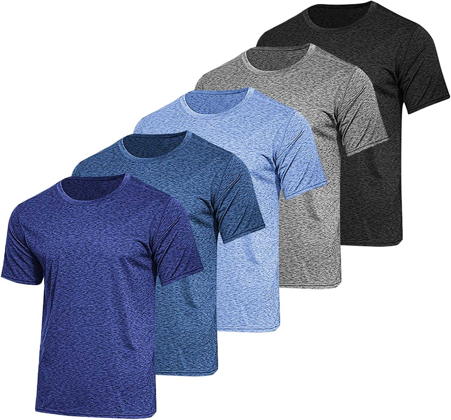 Don't miss the campaign COOFANDY Men's 5 Pack Athletic T Training New York Mall Short Sleeve Ru Shirts