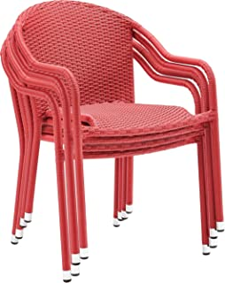 Prime Best Red Stackable Outdoor Chairs Of 2019 Top Rated Reviewed Squirreltailoven Fun Painted Chair Ideas Images Squirreltailovenorg