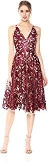Women's Blair Plunging Fit and Flare Midi Dress