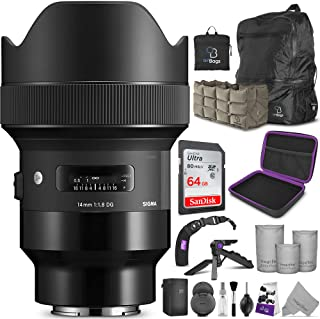 Sigma 14mm f/1.8 DG HSM Art Lens for Sony E Cameras with Altura Photo Advanced Accessory and Travel Bundle