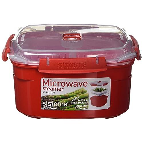 Sistema SI1102 Micro-Ondes à Vapeur Plastique Rouge 45 x 35 x 25 cm 2,4 L