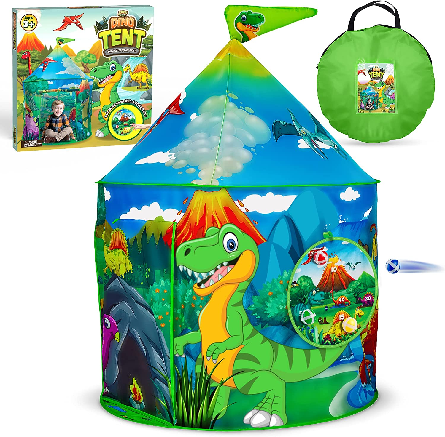 YoYa Toys Dinosaur Ranking TOP13 Play 70% OFF Outlet Tent for Girls Toddler Foldable Boys