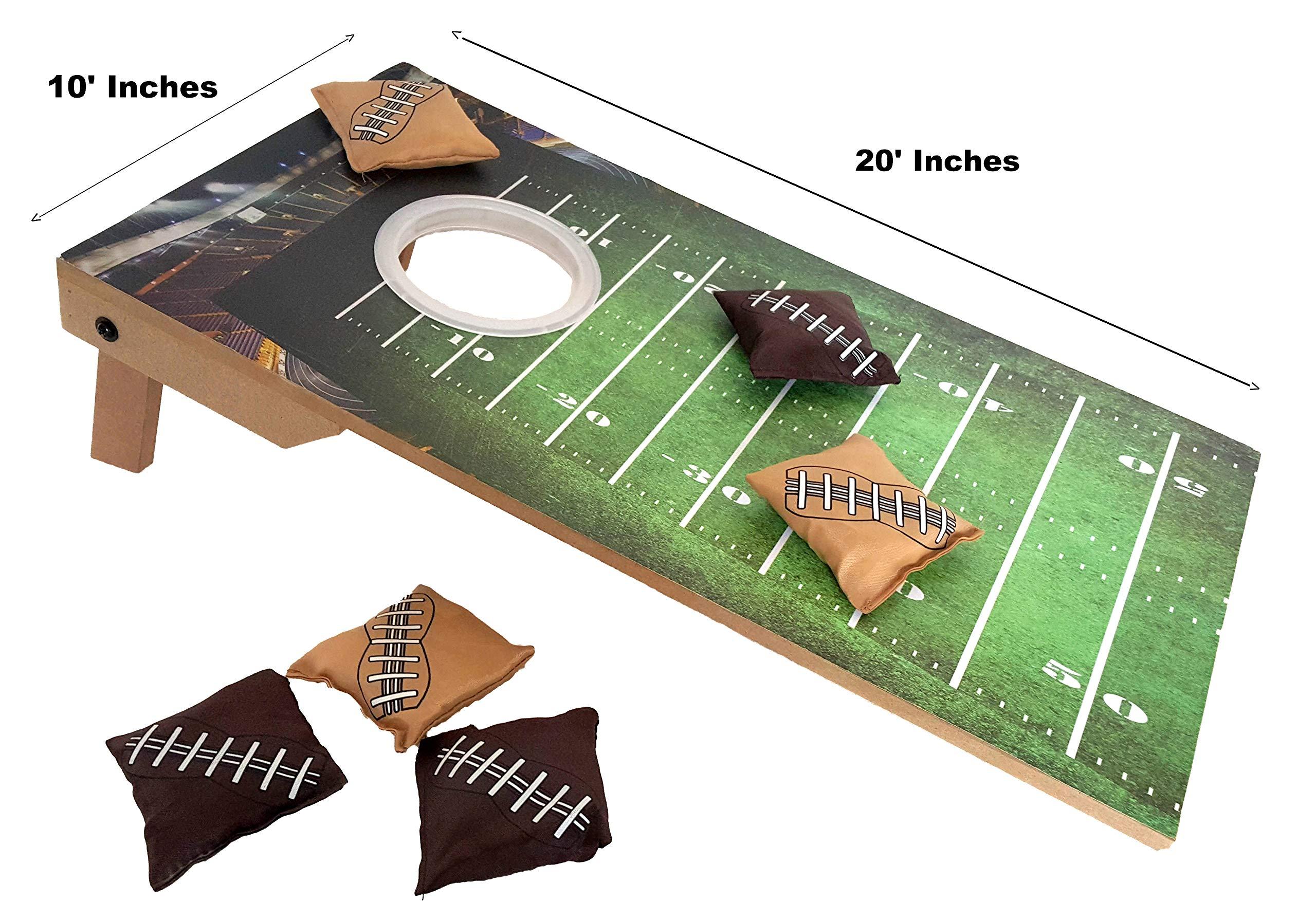Puf de futbolín con luz LED para interiores y exteriores, diseño de futbolín con texto