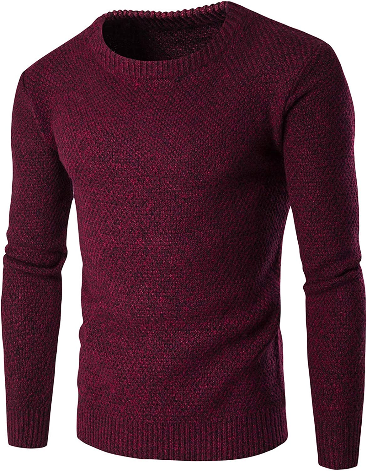 Men's Solid Color Sweater Europe and America Thick Line Thicken Warmth Casual