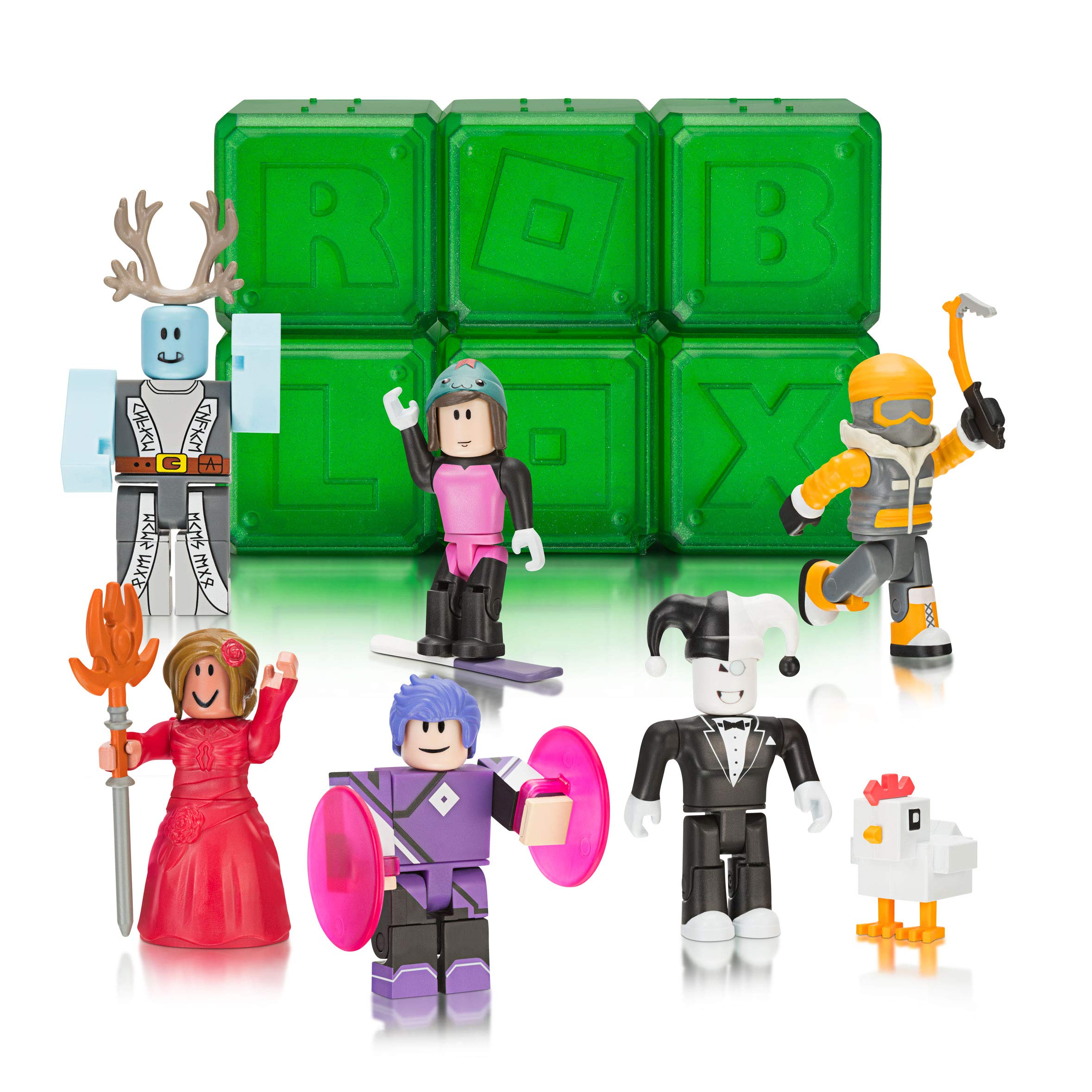 How To Make Roblox Character Amazon Com Roblox Celebrity Collection Series 4 Mystery Figure 6 Pack Includes 6 Exclusive Virtual Items Toys Games