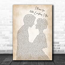 I Promise You (with Everything I Am) Man Lady Bride Groom Wedding Music Poster Gift Present Art Print