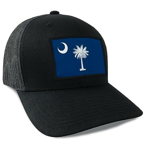 bc06d16fff1 South Carolina State Flag Flexfit Mesh Tactical Trucker Snapback Hat