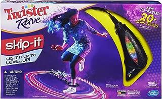 Hasbro Gaming Twister Rave Skip-It Game, Black