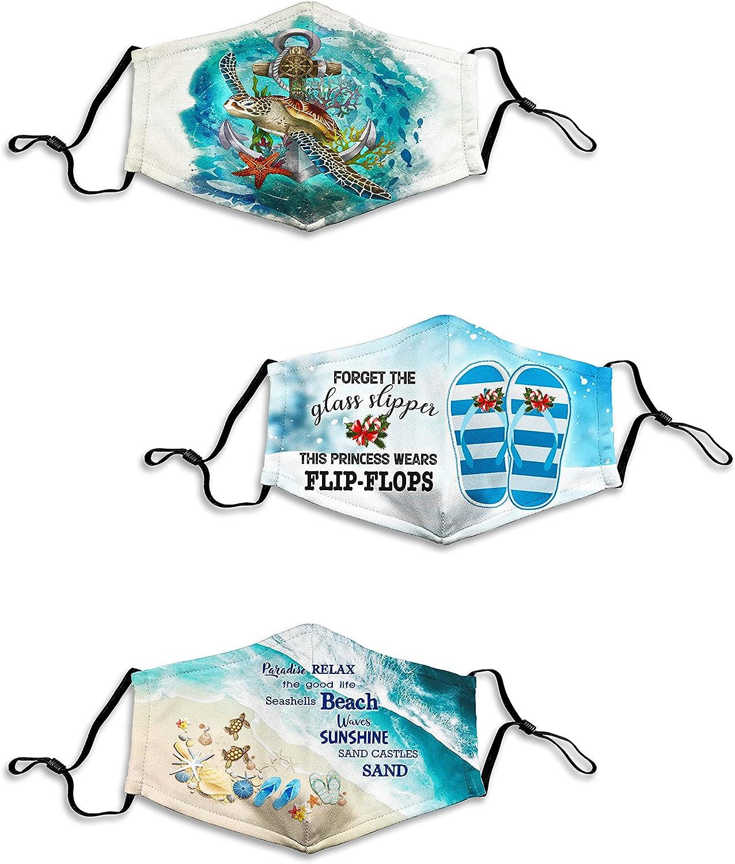 3PCS Ocean Sea Themed Mask Animal Face Balaclava Bandana Scarf for Women Men Adults