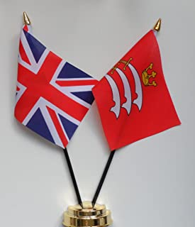 Middlesex County and United Kingdom Friendship Table Flag Display 25cm (10