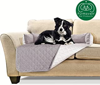 Furhaven Pet Furniture Cover | Two-Tone Reversible Water-Resistant Quilted Living Room Furniture Cover Protector Pet Bed for Dogs & Cats - Available in Multiple Colors & Styles