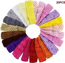 20PCS Fireboomoon Baby Girl Headbands Elastic Crochet Hair Bands Hair Accessories,Boutique Girls Stretch Headbands.