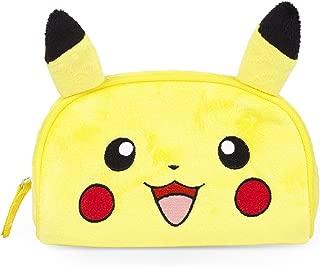 4SGM Pokemon Pikachu Plush Cosmetic Case, Medium, Multicolor