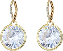 Betsey Johnson - Blue by Betsey Johnson Large Cubic Zirconia Stone Drop with Accents and Details Earrings