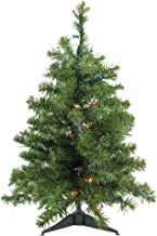 Northlight 23099057 Pre-Lit Natural 2 Tone Pine Artificial Christmas Tree with Multicolored Lights, 3'