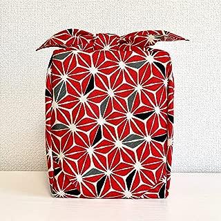 風呂敷 大判 105cm 綿シャンタン 麻の葉紅 古典柄 日本製 卒業式 お花見 お稽古 着物包み