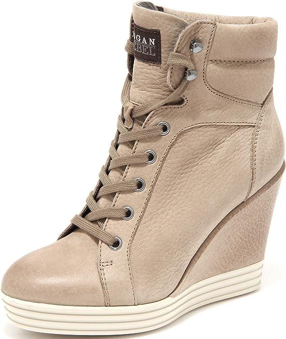 Hogan 55208 Tronchetto Sneaker Rebel R181 Zeppa Scarpa Donna Shoes ...