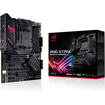 ASUS ROG Strix B550-F Gaming (WiFi 6) AMD AM4 Zen 3 Ryzen 5000 & 3rd Gen Ryzen ATX Gaming Motherboard (PCIe 4.0, 2.5Gb LAN, BIOS Flashback, HDMI 2.1, Addressable Gen 2 RGB Header and Aura Sync)