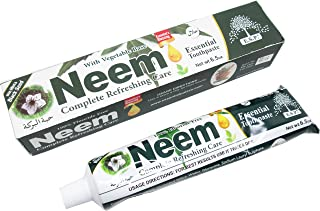 Neem 5 In 1 Fluoride Free Essential Toothpaste with Mint and Black Seed [Pack of 2 - White - 6.5 oz.]