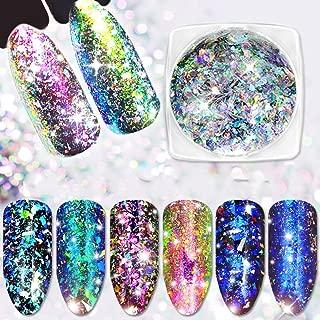 Yeslady Nail Art Laser Paillette Chameleon Flakes 3D Mirror Effect Powder Irregular Glitter Foil Sequins 3 Boxes