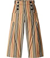Burberry Kids - Taren Stripe Wide-Leg Pants (Little Kids/Big Kids)