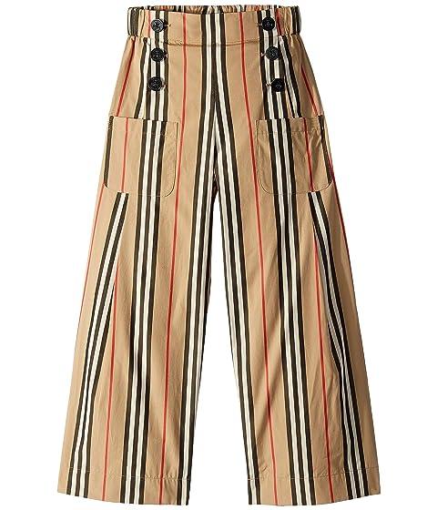 Burberry Kids Taren Stripe Wide-Leg Pants (Little Kids/Big Kids)