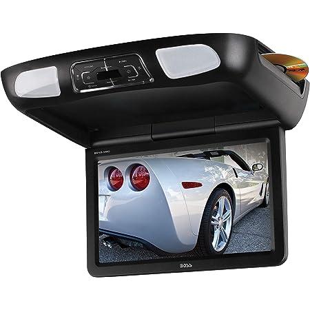 BOSS Audio Systems BV10.1MC 10.1 Inch Flip-Down Car Monitor, DVD CD MP3 USB SD, FM Transmitter, Black Grey Tan Interchangeable Housing Options, 2 Dual-channel Wireless Headphones, Wireless Remote