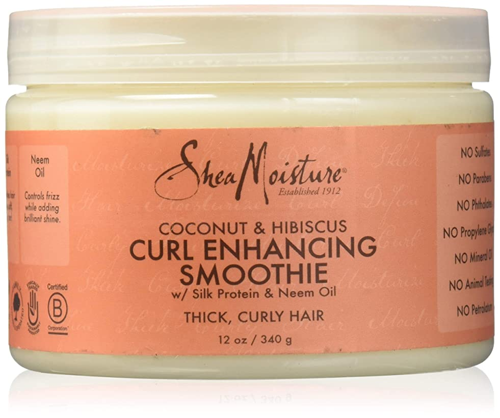 蛾リットルするShea Moisture Coconut & Hibiscus Curl Hold Smoothie - 12 OZ.