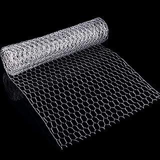 SATINIOR 2 Sheets Chicken Wire Net for Craft Work, Galvanized Hexagonal Wire Mesh (13.7 x 79 Inches)