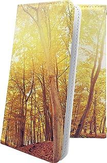 moto g8 plus ケース 手帳型 木目 木目調 ウッド 木 wood イチョウ 紅葉 秋 モト プラス 風景 motog8 g8plus きれい 綺麗ケース 11690-ffzdlf-10001632-motog8 g8plus