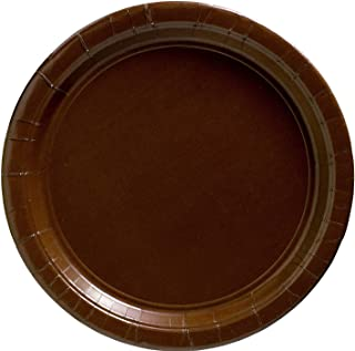 Chocolate Brown Big Party Pack - Dessert Plates (50 count)