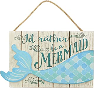 The Bridge Collection 'I'd Rather Be a Mermaid' Wood Plaque Wall Sign
