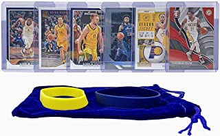 Indiana Pacers Basketball Cards: Victor Oladipo, Bojan Bogdanovic, Domantas Sabonis, Wesley Matthews, Myles Turner, Thaddeus Young ASSORTED Basketball Trading Card and Wristbands Bundle
