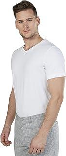 Iconic Men's 2300346 POPCORN V Cotton T-Shirt, White