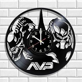 Wall clock Alien vs Predator AVP made from real vinyl, Original Alien vs Predator AVP wall poster
