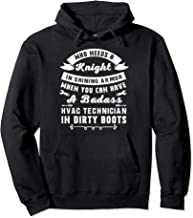 Hvac Tech Wife Merch - Gifts For Hvac Technicians Female Pullover Hoodie