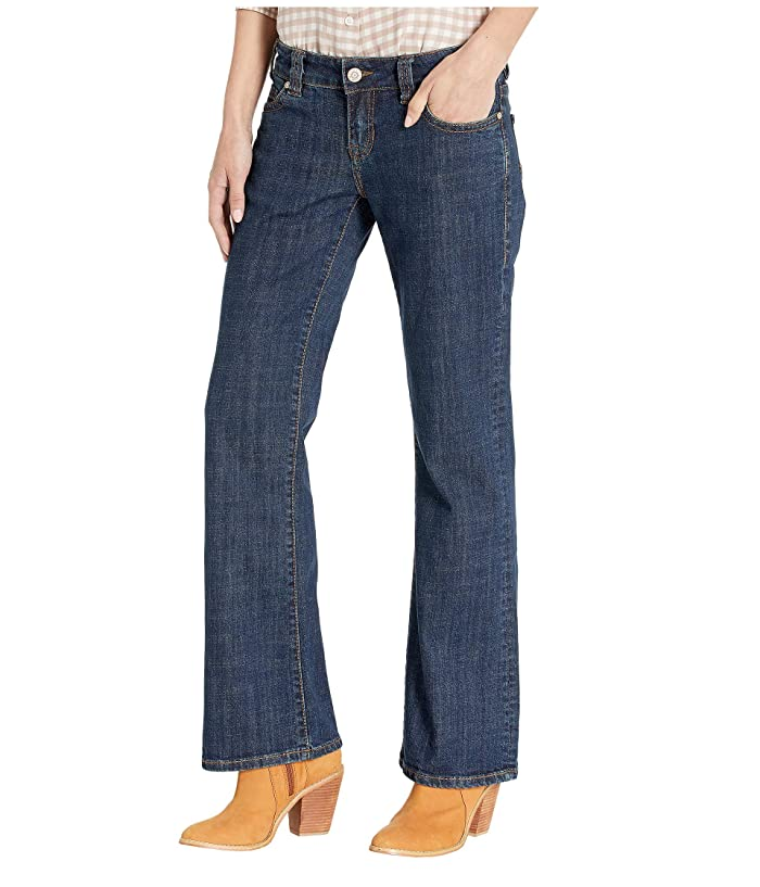 Rock and Roll Cowgirl W7-9213 Riding Bootcut Jeans in Dark Wash