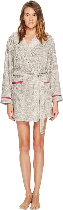 Kate Spade New York Plush Fleece Wink Embroidered Robe